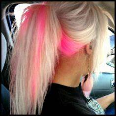 1000 ideas about Pink Hair Highlights on Pinterest