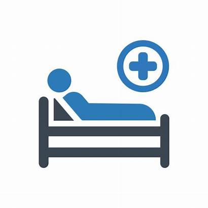 Hospital Bed Vector Patient Icon Clip Illustrations