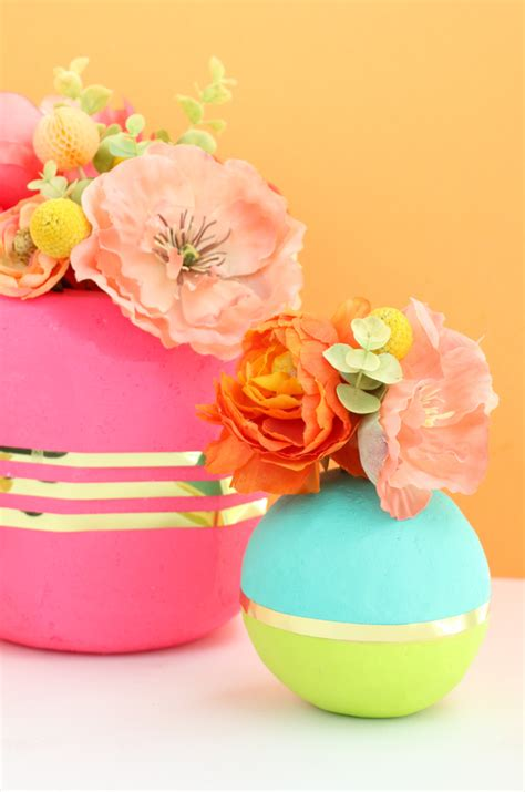Colorful Vases by A Kailo Chic Diy It Colorful Geometric Vases