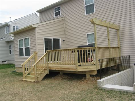 the deck company wood decking maryland deck builders the deck fence