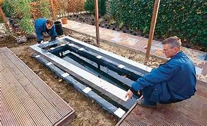 wasserbecken teich anlegen selbstde With französischer balkon mit pool im garten einbauen