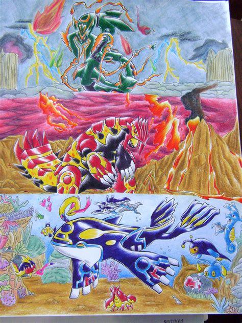 Mega Rayquaza Primal Groudon And Primal Kyogre Fanart