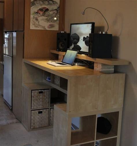 hack  standing desk  ikea