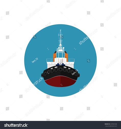 Tugboat Wages by Icon Tugboat A Front View Of The Push Boats Icon Tow