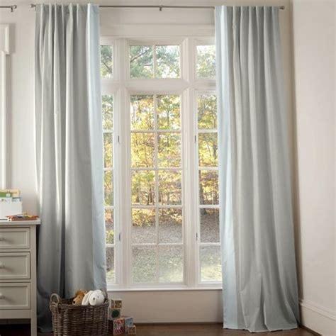 light blue linen tab drapes