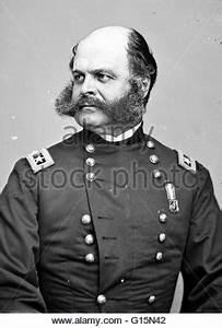 Union General Ambrose Burnside, US Civil War. Hand-colored ...