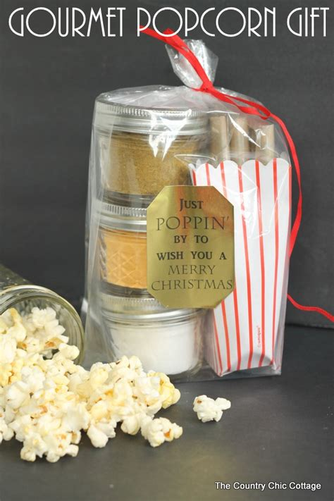 gourmet popcorn gift in a jar the country chic cottage