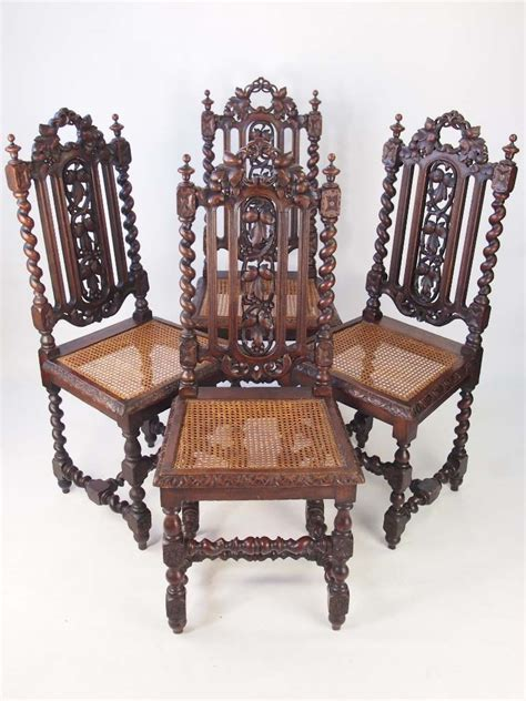 antique oak dining chairs for set 4 antique oak chairs 9030