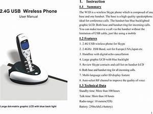 Yealink Usbw0001 Usb Wireless Phone User Manual Usb W1d