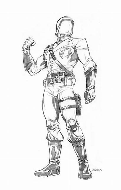 Cobra Commander Joe Gi Robert Atkins Comic