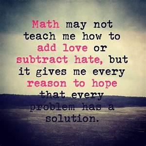 Is It Love Solution : hate math quotes quotesgram ~ Melissatoandfro.com Idées de Décoration