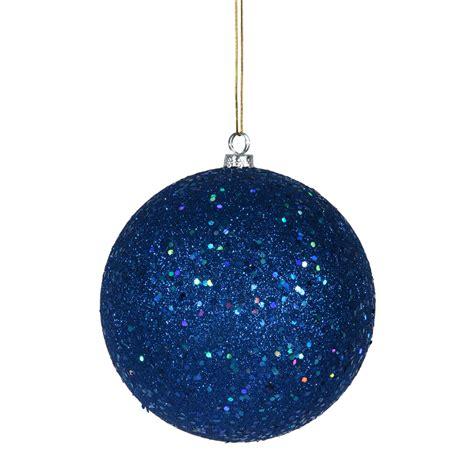 vickerman 10 quot blue sequin christmas ball ornament