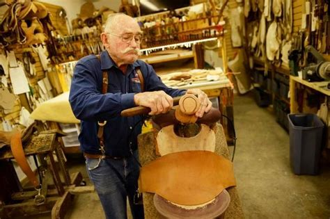 saddle maker leather rusty custom saddles his craft tooled ranchers riders makes hand rodeo pros addition google