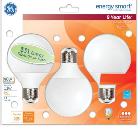 ge lighting 85392 energy smart cfl 11 watt 40 watt
