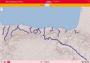 Mapa para jugar ¿Dónde está? Ríos de España, Vertiente Cantábrica Mapas Interactivos de