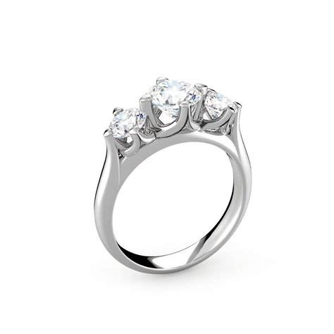 forevermark setting 174 three diamonds plain ring the palace