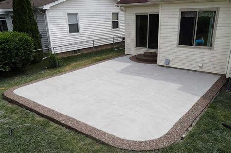 Cement Patio Designs by Sted Concrete Patios Unique Cement Photos Michigan