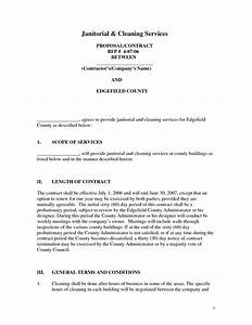 janitorial proposal template best and professional templates With cleaning services proposal letter