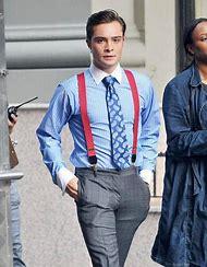 Man Wearing Suspenders