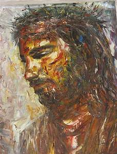 Jesus Crown Of Thorns Painting by Thu Sophannarith