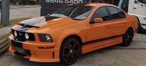 Someone built a Mustang sedan using an Aussie Ford Falcon