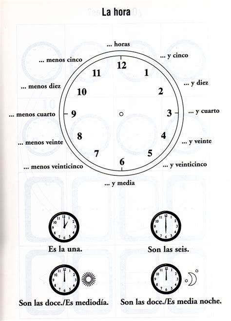 que hora es worksheet free worksheets library
