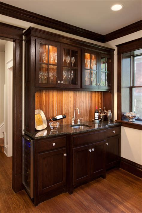 Campbell Craftsman Bar Cabinet  Traditional  Kitchen
