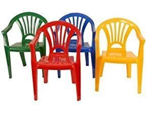 chaise de couleur en plastique lot 4 chaises plastique pour enfant 4 couleurs jaune