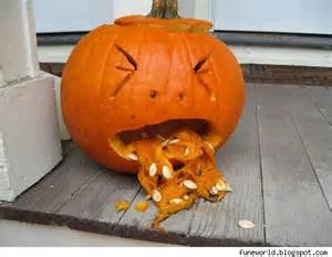 Pumpkin Template Throwing Up by Comedy News Viral Late Night Tv Political Humor