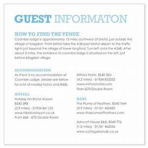 Invite insert question for Wedding invitations with information inserts