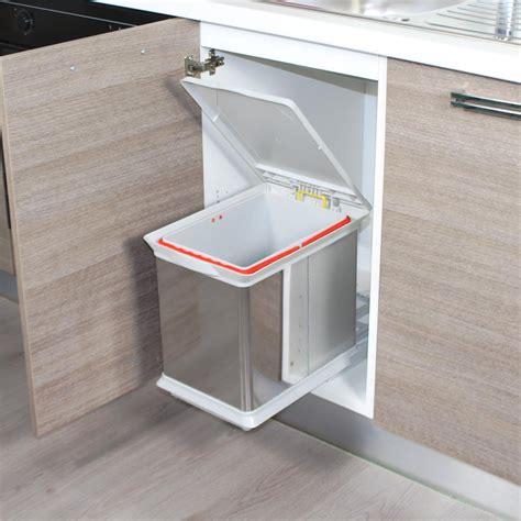 poubelle cuisine inox poubelle tiroir coulissant obasinc com