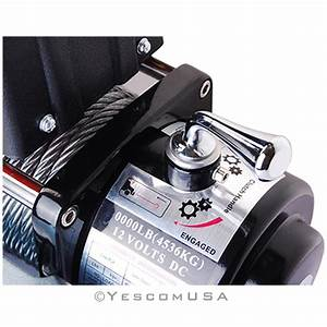 8000lbs Electric Recovery Winch 12v Towing Steel Cable For