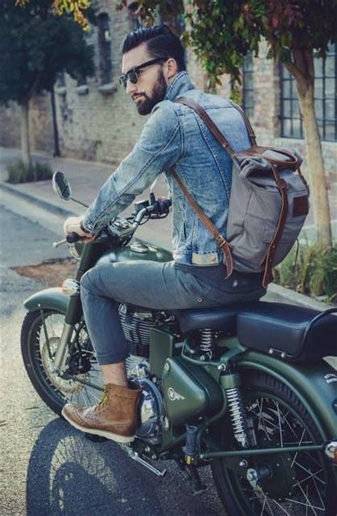 casual motorcycle clothes casual outift for man movies hipster