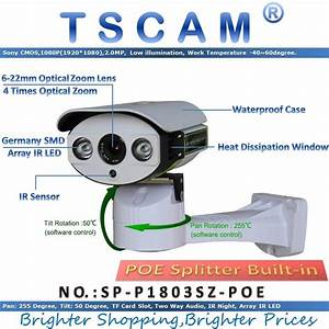Tscam Sp P1803sz Poe Pan  Tilt  Zoom Ip Camera Onvif Hd