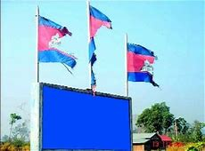 KI Media Pityful state of Cambodian flags on top of