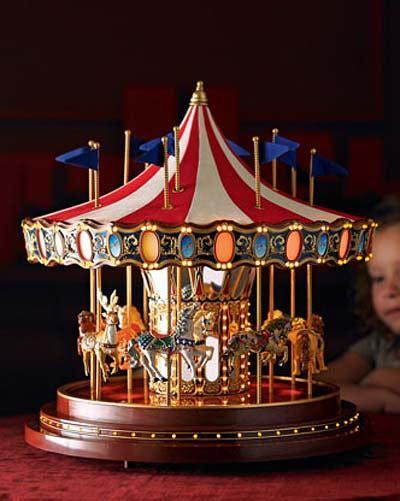 christmas musical carousel merry   holiday decor