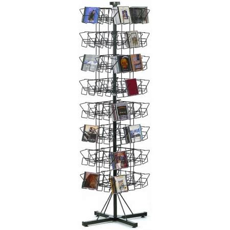 pocket cd floor wire rack display spinner