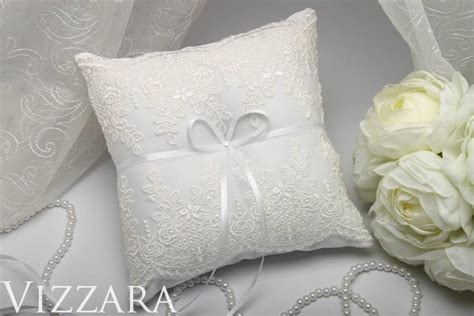wedding pillow lace ring bearer wedding accessories ideas