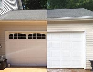Plum prettyfaux carriage style garage doors diy for Carriage type garage doors