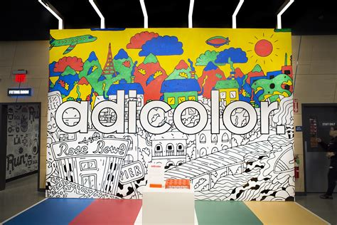adicolor interactive mural coloring project  la ny