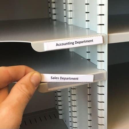 shelf identification economy adhesive backed plastic id