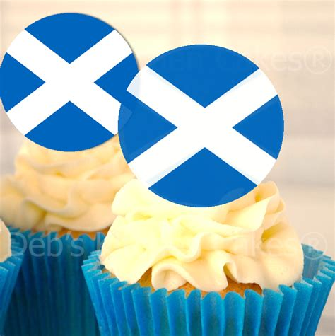 cake toppers countries scotland scottish flag