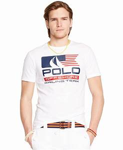 Polo ralph lauren Flag Graphic T-shirt in White for Men | Lyst