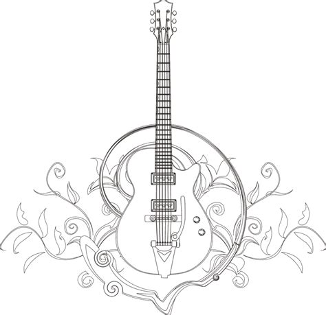 guitar wings pages coloring pages