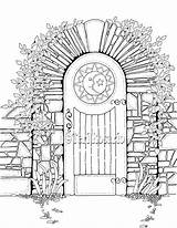 Gate Coloring Drawing Gates Template Enchanted Sketch Diagram sketch template
