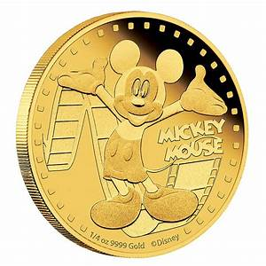 Disney Gold Coin Mickey Mouse New Zealand Mint