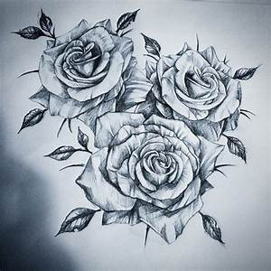Roses tattoo draw discovered by Lilith on We Heart It