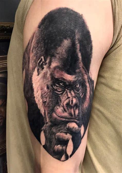 gorilla tattoo ideas  pinterest mens sleeve