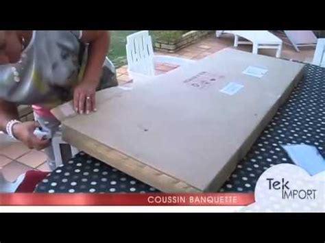 toile ciree pour table de jardin coussin banquette 150x54cm tek import