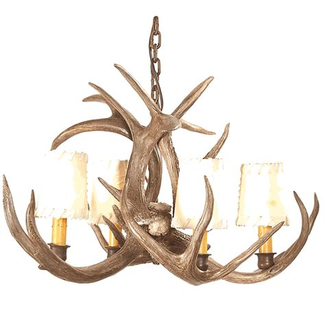 coues deer antler chandelier 4 light